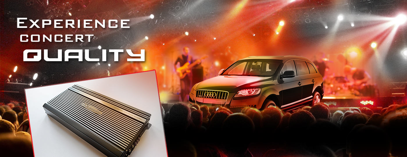 US acoustics car audio amplifiers concert quality